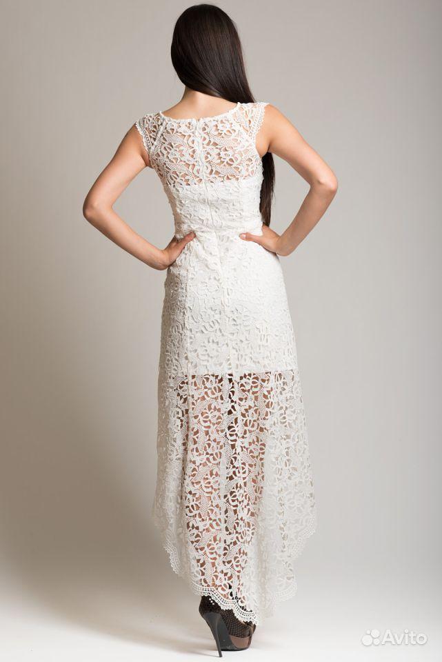 Платье свадебное с вологодским кружевом