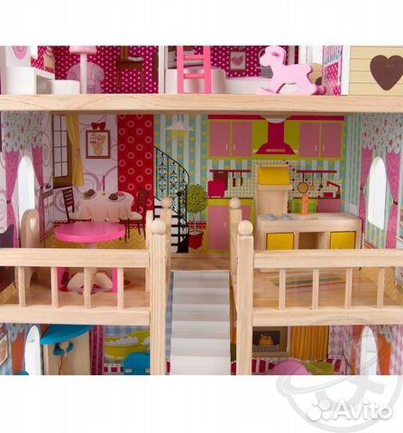 Домик для кукол с мебелью edufun