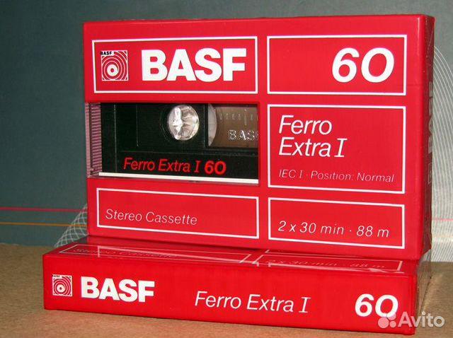 Объявление Кассета Basf Ferro Extra 60 аудиокассета (5 фотограф