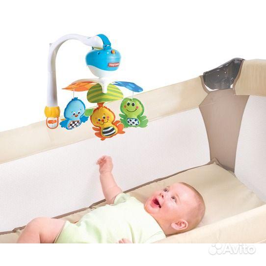 Мобиль на кроватку для новорожденных тини лав