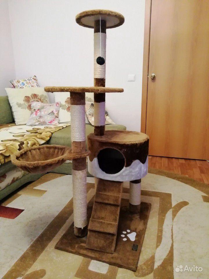 Домик для кошки+когтеточка+игровой комплекс