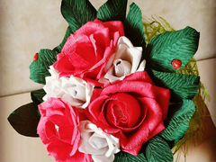 Букет роз с конфетками