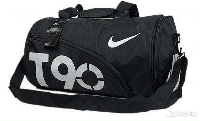c24ad93f Спортивная сумка Nike T90 Черная с Белым логотипом | Festima.Ru ...