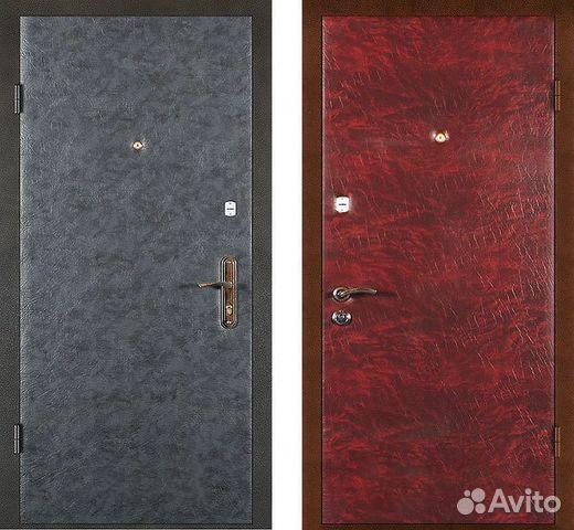металлическая дверь винилискожей