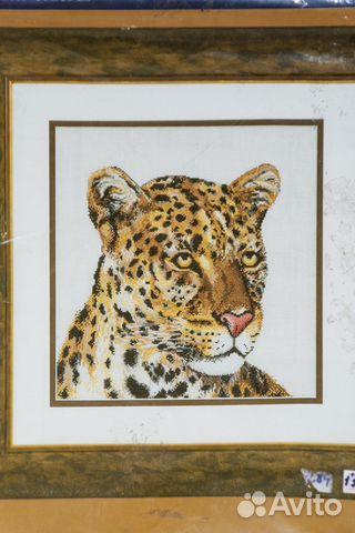 Вышивка (набор для вышивания) Леопард rico design купить 1