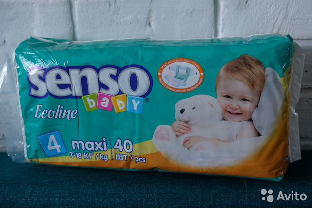 Подгузники senso baby ecoline 4 (7-18 кг) 40 шт   Festima.Ru ... f69f24a6051