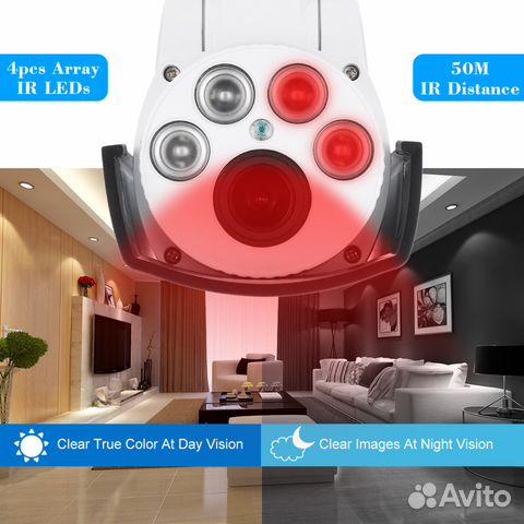 Беспроводная управляемая IP камера 1080P 89044497130 купить 8