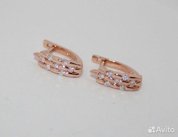 111e119a2d60 Золотые серьги с бриллиантами 585 пр.б у купить в Краснодарском крае ...