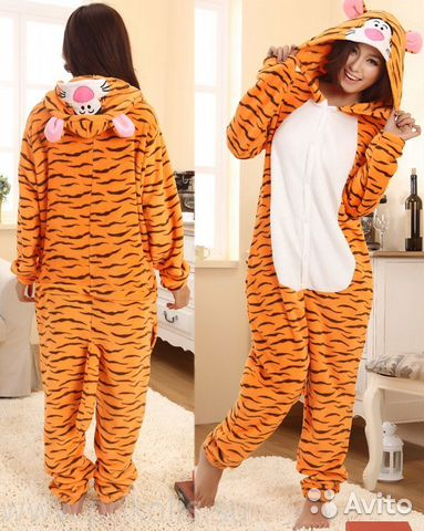 Пижама Кигуруми Тигр размер XL на рост 175-185  ff8fbb0c8c5de