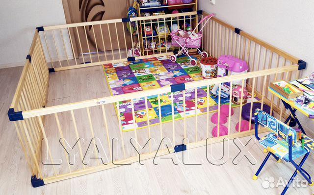Большой, детский деревянный манеж 2.22 2.22 метра купить в Москве на ... 3441fb2d52b