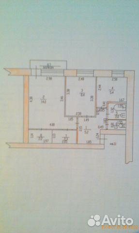 Продается двухкомнатная квартира за 1 150 000 рублей. Тамбовская обл, г Рассказово, ул Советская, д 103.