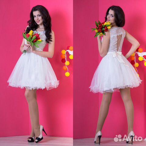 8ee630e6881f466 Короткие свадебные платья новые купить в Санкт-Петербурге на Avito ...
