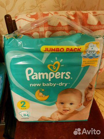 3197866bd44d Подгузники Pampers New baby dry 2 купить в Санкт-Петербурге на Avito ...