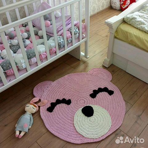 вязаный коврик мишка купить в курганской области на Avito