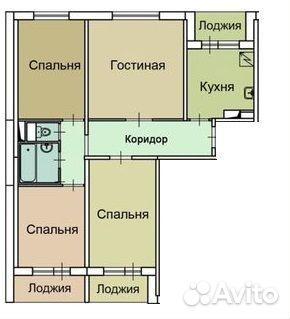 Продается четырехкомнатная квартира за 14 000 000 рублей. ул. Коломенская, 27.