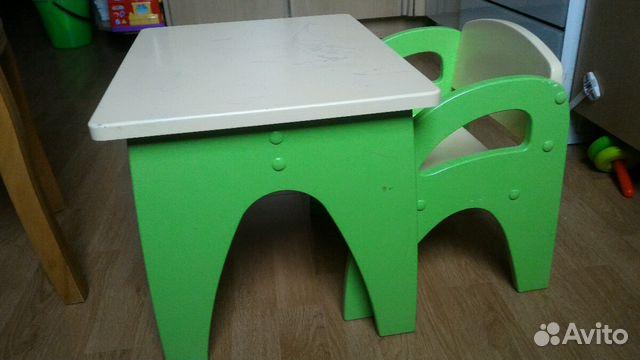 деревянный столик и стульчик для малыша купить в московской