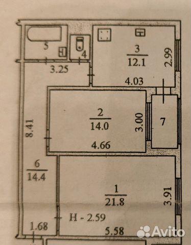 Продается двухкомнатная квартира за 6 800 000 рублей. г Салехард, ул Манчинского, д 20.