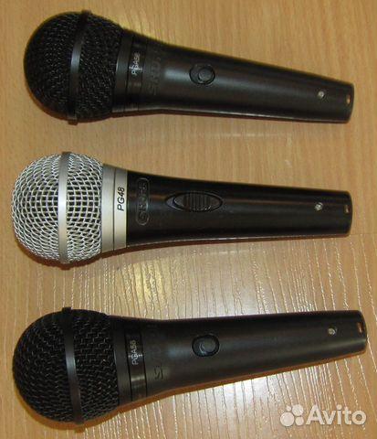 Проф вокальные микрофоны Shure PG48 - 58 3шт новые 89128899109 купить 2