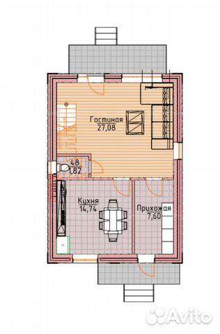 Коттедж 100 м² на участке 8 сот. 88002226041 купить 2