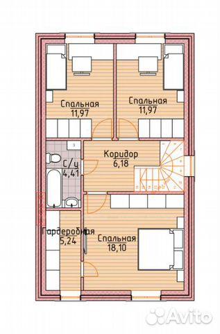 Коттедж 120 м² на участке 10 сот. 88002226041 купить 2