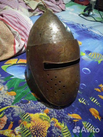Шлем стальной бацинет с забралом  89044498223 купить 1