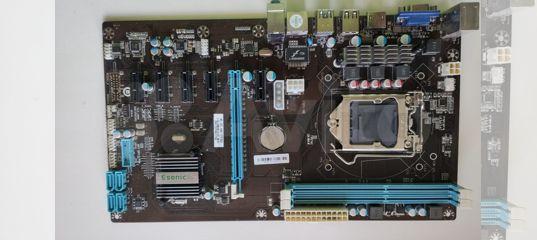 Esonic H81-BTC-king (для майнинга) S-1150 ATX купить в Новосибирской области | Бытовая электроника | Авито