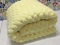 Плюшевый детский плед в коляску, кроватку 90*85 см