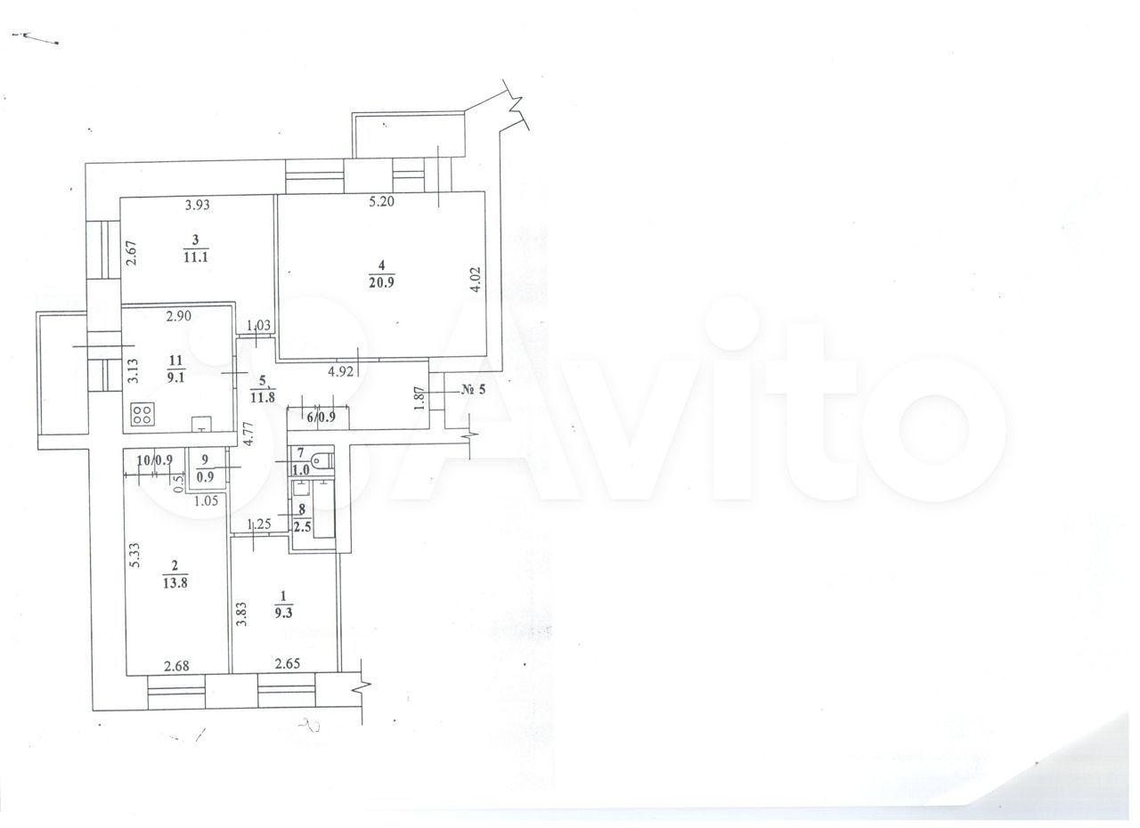 4-к квартира, 90 м², 2/5 эт.  89644296852 купить 10