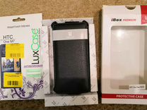 Чехол-обложка и пленка для HTC One Dual