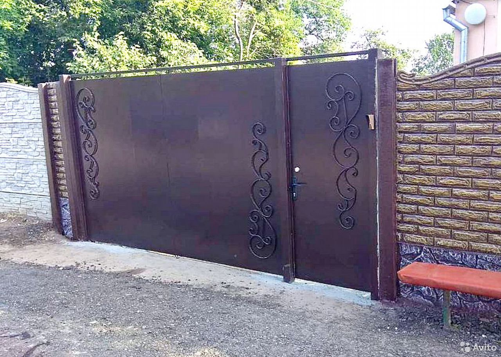 Ворота, калитки, заборы с установкой под ключ  89085197498 купить 1