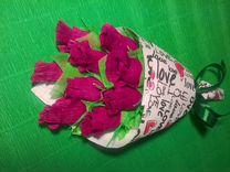 Цветочки из конфет.Вкусный букетик на любой случай
